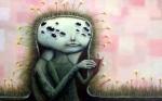 """""""Overneath"""", acrylic on canvas, 36x48 $800"""